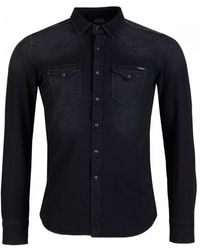 Replay Hyperflex Denim Shirt - Black