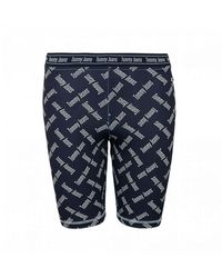 Tommy Hilfiger All Over Logo Cycling Shorts - Blue