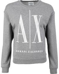Armani Exchange Ax Logo Sweat - Grey