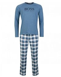 BOSS by Hugo Boss Cosy Pyjama Set - Blue