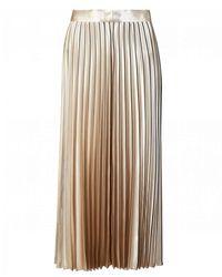 HUGO Pleated Metallic Midi Skirt