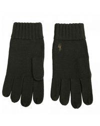 Polo Ralph Lauren Pp Logo Merino Gloves - Green
