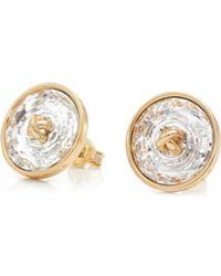 Ted Baker - Kinley Crystal Button Earrings - Lyst