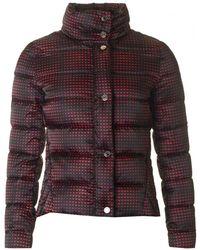 Armani Jeans - Eagle Print Concealed Hood Puffa Jacket - Lyst