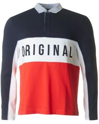 Original Penguin - Panel Colour Block Rugby Shirt - Lyst