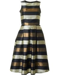 Bourne | Una Striped Full Skirt Dress | Lyst