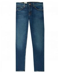 Nudie Jeans Steady Eddie Regular Tapered Fit Jeans - Blue