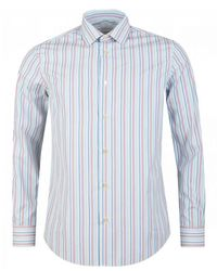 Paul Smith Multi Stripe Shirt - Blue