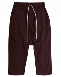 Rick Owens Drkshdw Drawstring Cropped Pants - Purple