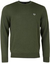 Fred Perry - Classic Crew Neck Merino Knit - Lyst