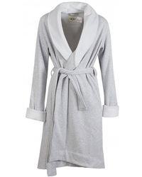 UGG Duffield Ii Fleece Lined Dressing Gown - Gray