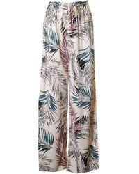 Saint Tropez - Palm Print Wide Leg Trousers - Lyst