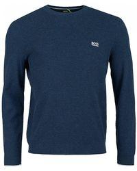 BOSS Athleisure - Ranja Organic Cotton Crew Neck Knit - Lyst
