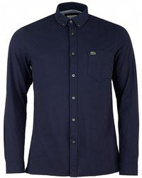 Lacoste - Jersey Button Through Shirt - Lyst