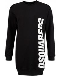 DSquared² Oversized Logo Side Sweat - Black