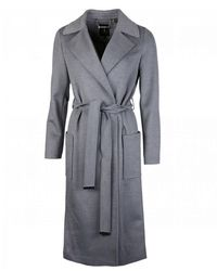 Ted Baker Side Button Long Coat - Gray