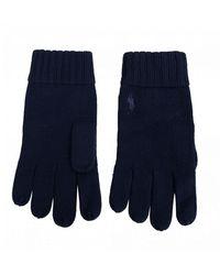 Polo Ralph Lauren Pp Logo Merino Gloves - Blue