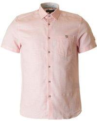 Ted Baker - Peeze Short Sleeved Oxford Shirt - Lyst