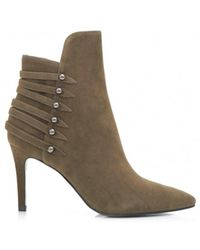 Kendall + Kylie - Stud Detail Suede Ankle Boots - Lyst