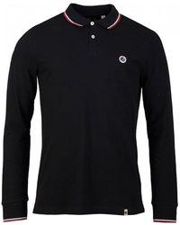 Pretty Green Hartford Long Sleeved Polo Shirt - Black