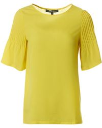French Connection - Classic Crepe Light Flute Sleeved Top - Lyst