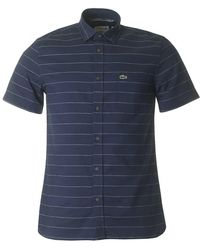 Lacoste - Short Sleeved Striped Shirt - Lyst