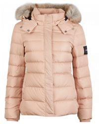 Calvin Klein Essential Down Hooded Jacket - Natural