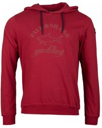 Paul & Shark Pull Over Hooded Top - Red