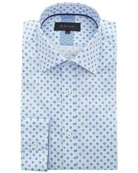 1 Like No Other - Floral Pinstriped Cotton Shirt - Lyst
