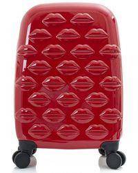 Lulu Guinness Small Lips Hardside Spinner Case - Red