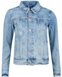 Tommy Hilfiger Faded Trucker Jacket - Blue