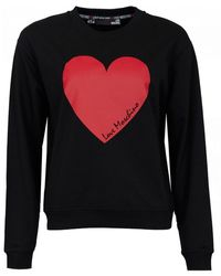 Love Moschino Heart Logo Sweat - Black