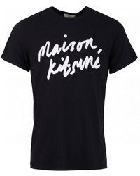 Maison Kitsuné Handwriting T-shirt - Black