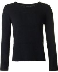 Armani - Button Shoulder Knit - Lyst