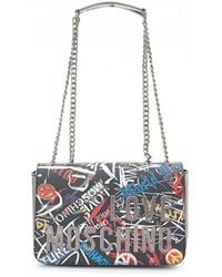 Moschino - Graffiti Logo Shoulder Bag - Lyst
