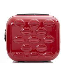 Lulu Guinness - Small Lips Hardside Vanity Case - Lyst