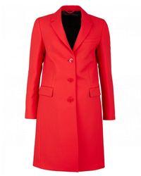 Calvin Klein Uniform Crombie Coat - Red