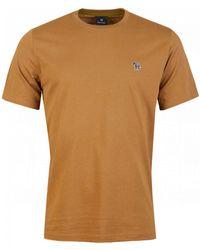 Paul Smith Regular Fit Zebra T-shirt - Natural