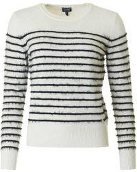 Armani - Striped Eyelash Knit - Lyst