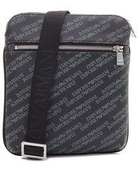 Armani Jeans Black Signature Eco Leather Men s Card Holder in Black ... 7df6e59e65810