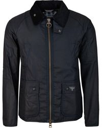 Barbour Beacon Bedale Waxed Jacket - Blue