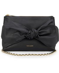 Ted Baker Darnna Soft Knot Detail Clutch Bag - Black