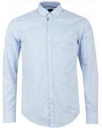 BOSS Rikard 53 Button Down Oxford Shirt - Blue