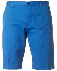 HUGO - Hano 3 Cotton Chino Shorts - Lyst