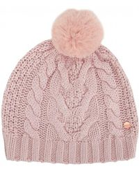 Ted Baker Cable Knit Pom Pom Hat