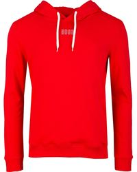 HUGO Dondy Pop Over Hooded Sweat - Red