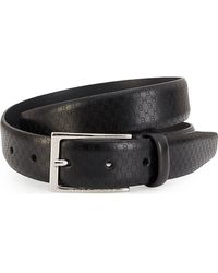 BOSS by Hugo Boss Ceddy Hb Icon Laser Leather Belt - Black