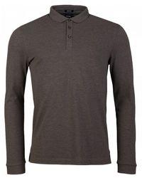 BOSS by Hugo Boss Pado 10 Long Sleeved Pique Polo Shirt - Green