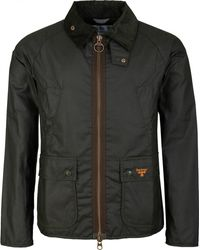 Barbour Beacon Bedale Waxed Jacket - Black