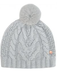 8ed62fb8d Quirsa Cable Knit Pom Hat